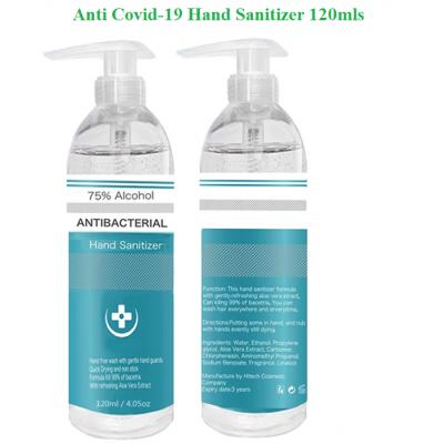 Hand Sanitizer - Anti-Bacteria - Anti-Virus - 75% 120mls