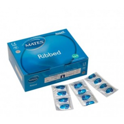 Mates Ribbed Extra Safe Condoms 72 Pack