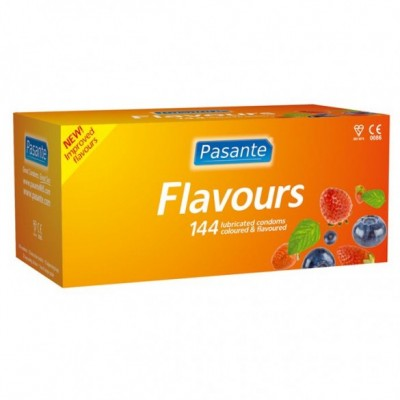 Pasante Mixed Flavours Condoms Clinic Pack 144